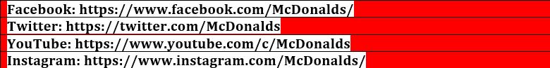 mcdvoice con social media
